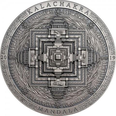 MANDALA KALACHAKRA 2000 TOGROG 3 OZ MONGOLIA 2019