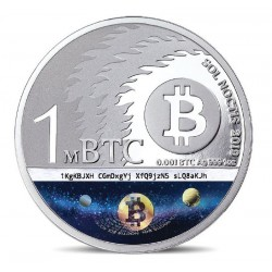 SOL NOCTIS COIN 2019 1 MILIBIT BITCOIN 10TH ANNIVERSARY OF BITCOIN