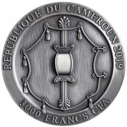 SPARTAN HOPLITE LEGENDARY WARRIORS 3000 CFA FRANCS 3 OZ CAMEROON 2019