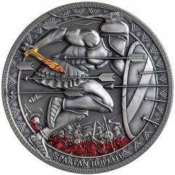 SPARTAN HOPLITE LEGENDARY WARRIORS 3000 CFA FRANCS 3 OZ CAMEROON 2019