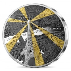 EIFFEL TOWER 130TH ANNIVERSARY 5 OZ 50€ FRANCE 2019