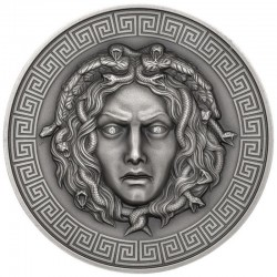 MEDUSA DIAMONDS SILVER COIN 3000 FRANCS 3 OZ CAMEROON 2019