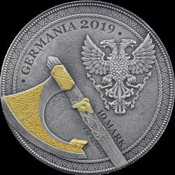 GERMANIA 2 OZ BERSERK WOJOWNICY 5 MARK SREBRNA MONETA