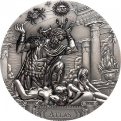 ATLAS TITANS 20 DOLLARS 3 OZ COOK ISLANDS 2019