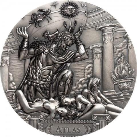 ATLAS TITANS 20 DOLLARS 3 OZ COOK ISLANDS 2019