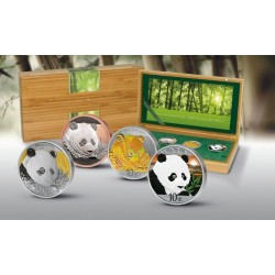 SILVER INVESTMENT PRESTIGE SET PANDA 2018