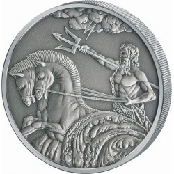 POSEIDON 4 COIN SET 1 OZ 5 DOLLARS TOKELAU 2017