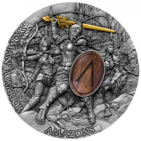 AMAZONS WOMAN WARRIOR NIUE 2019 2 OZ 2 DOLLARS