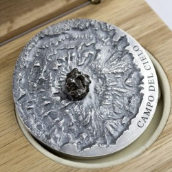 CAMPO DEL CIELO METEORITE ART 5000 FRANCS CFA 5 OZ REPUBLIC OF CHAD 2018