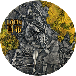LU BU WARRIORS OF ANCIENT CHINA 5 DOLLARS 3 OZ NIUE 2019