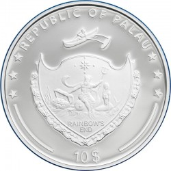 THE POLAR ECOSYSTEMS SILVER COIN 10 DOLLARS 2 OZ PALAU 2020