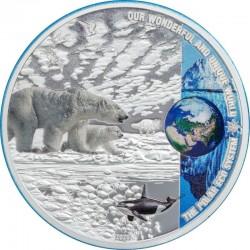 THE POLAR ECOSYSTEMS SILVER COIN 10 DOLLARS 2 OZ PALAU 2020
