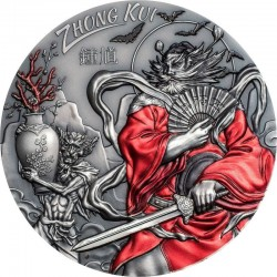 ZHONG KUI ASIAN MYTHOLOGY 20 DOLLARS 3 OZ COOK ISLANDS 2019