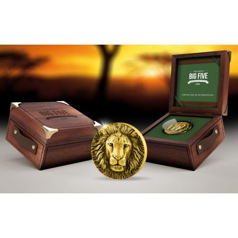 BIG FIVE LION 5 OZ GOLD REPUBLIQUE DE COTE D'IVOIRE