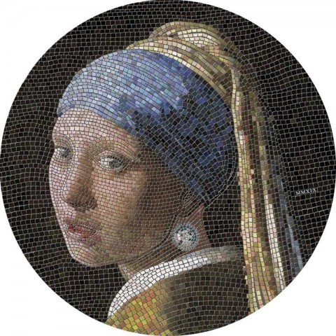 GREAT MICROMOSAIC PASSION - GIRL WITH PEARL EARNING PALAU 2019 3 OZ 20 DOLLARS