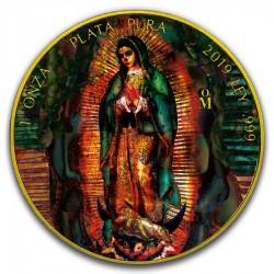 2019 1oz Mexican Silver Libertad Santa Muerte Gilded Coin