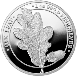 Liść Dębu Oak Leaf Germania 2019 1 Oz Proof 5 Marek srebrna moneta