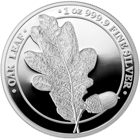 Oak Leaf Germania 5 Mark 1 Oz silver coin Proof Blister Pack