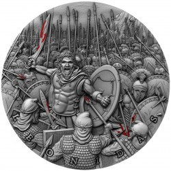 LEONIDAS GREAT COMMANDERS 2 OZ 5 DOLLARS NIUE ISLANDS 2019