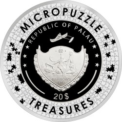 Micropuzzle Treasures Starry Night Van Gogh Palau 2019 3 Oz 20$