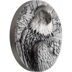 AMERICAN EAGLE 2 x 5 Oz Silver Gold and Rhodium De Greef Edition Signatured Ivory Coast