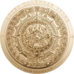 ARCHEOLOGY & SYMBOLISM SERIE 3 x 3 Oz AZTEC CALENDAR MANDALA ART SAMSARA WHEEL OF LIFE SILVER GOLD PLATED