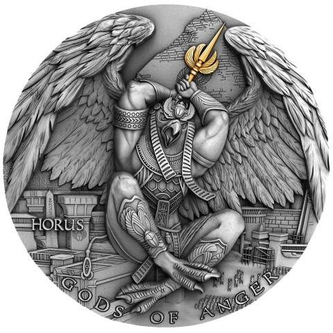 HORUS GODS OF ANGER NIUE 2020 2 OZ 5 DOLLARS