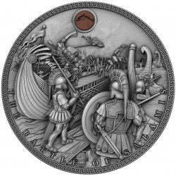 THE BATTLE OF SALAMIS SEA BATTLES 5 DOLLARS 2 OZ SILVER COIN 2019 NIUE