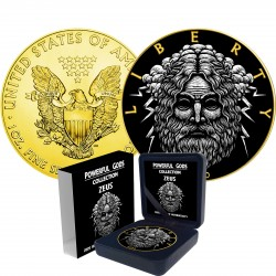 ZEUS POWERFUL GODS 1 DOLLAR 1 OZ AMERICAN SILVER EAGLE 2020