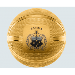 BASKETBALL SPERICAL COIN 5 DOLLARS 1 OZ SILVER SAMOA 2020