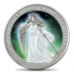 GERMANIA 2019 5 MARK FROZEN AURORA RHODIUM