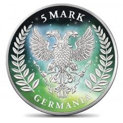 GERMANIA 2019 5 MARK FROZEN AURORA RHODIUM