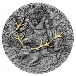CERYNEIAN HIND TWELVE LABOURS OF HERCULES 2020 NIUE 5 DOLLARS 2 OZ