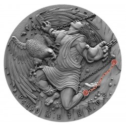 PROMETHEUS ANCIENT MYTHS III NIUE 2019 2 OZ SILVER COIN 5 DOLLARS