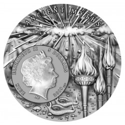PROMETHEUS ANCIENT MYTHS III NIUE 2019 2 OZ SILVER COIN 5 DOLLARS