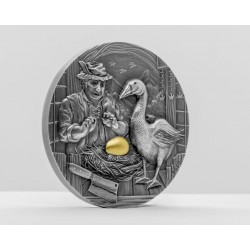 THE GOOSE THAT LAID THE GOLDEN EGGS FAMOUS FABLES SERIES 10 DOLLARS 2 OZ PALAU 2020