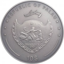 WHEN THE CAT IS AWAY, THE MICE WILL PLAY PROVERBS SERIES 10 DOLLARS 2 OZ PALAU 2020
