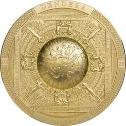 DANDERA ZODIAC EGYPT ARCHEOLOGY AND SYMBOLISM SERIES ANTIQUE 20 DOLLARS 3 OZ COOK ISLANDS 2020