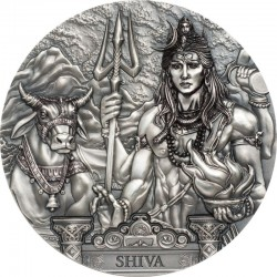 SHIVA GODS OF THE WORLD 20 DOLLARS 3 OZ COOK ISLANDS 2020