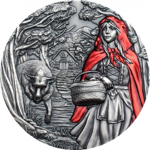 LITTLE RED RIDING HOOD FAIRY TALES & FABLES 20 DOLLARS 3 OZ COOK ISLANDS 2019