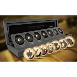 GOLD RHODIUM EDITION 7 x 0,5G - 99999 GOLD 7 x 1.000 FRANCS CFA GABONESE REPUBLIC 2020