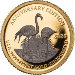 GOLD RHODIUM EDITION 7 x 0,5G - 99999 GOLD 7 x 1.000 FRANCS CFA GABONESE REPUBLIC 2020