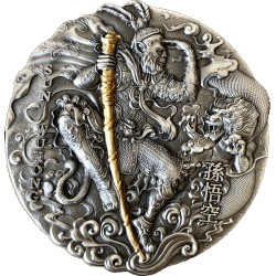 SUN WUKONG JOURNEY TO THE WEST 2 DOLLARS 2 OZ NIUE ISLANDS 2020
