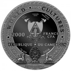 KAPALA WORLD CULTURES 2 OZ CAMEROON 2018 2000 FRANCS