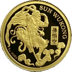 SUN WUKONG JOURNEY TO THE WEST GOLD 0.5 G 1 DOLLAR NIUE 2020