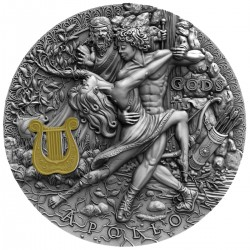 APOLLO GODS NIUE 2020 2 OZ 5 DOLLARS SILVER COIN