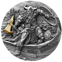 ERIC BLOODAXE VIKINGS SERIES 2 OZ 5 DOLLARS NIUE ISLAND 2020