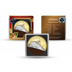 CHOCOLATE COINS SET 4 COINS AMERICAN EAGLE BRIATANNIA KRUGERRAND PANDA 2020