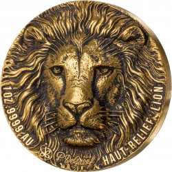 BIG FIVE DE GREEF EDITION LION 1 OZ GOLD COIN IVORY COAST 2020