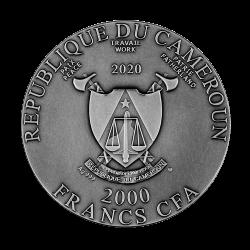 MAKAHALA CAMEROON 2020 2 Oz SILVER COIN 2000 FRANCS